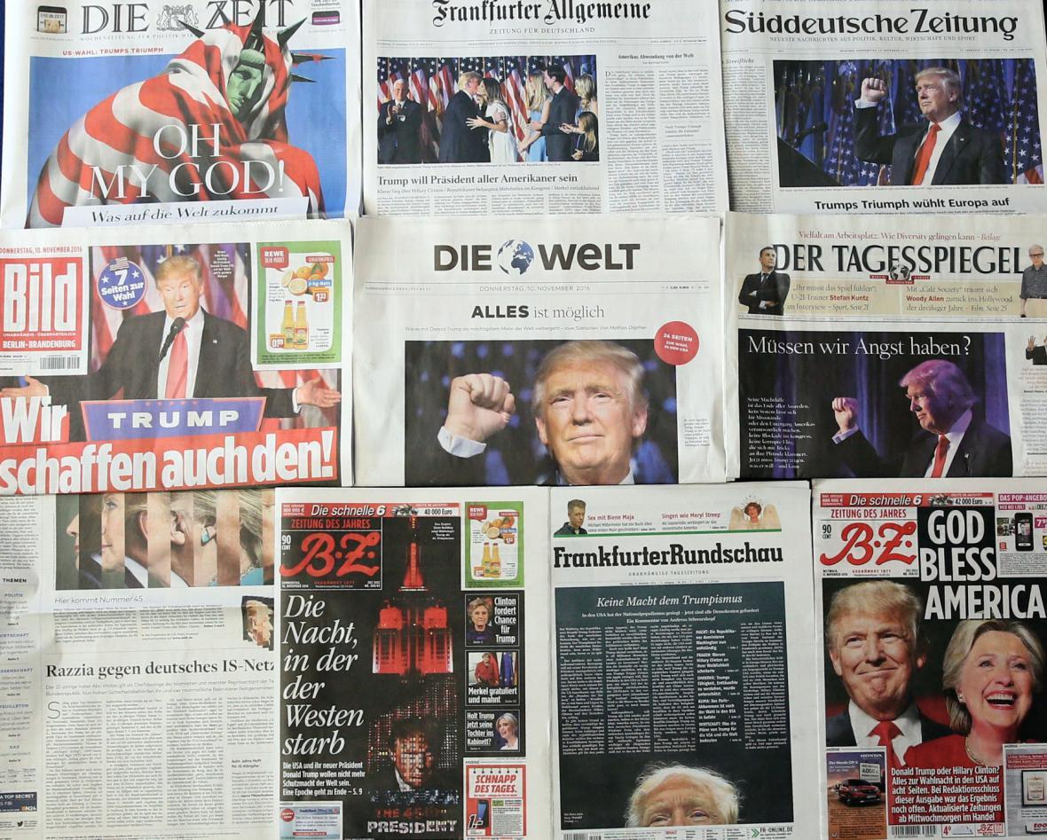 Evropský tisk o vítězství Donalda Trumpa