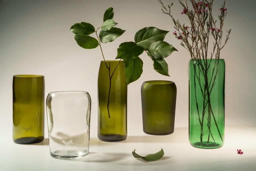 Srna - vázy z recyklovaného skla