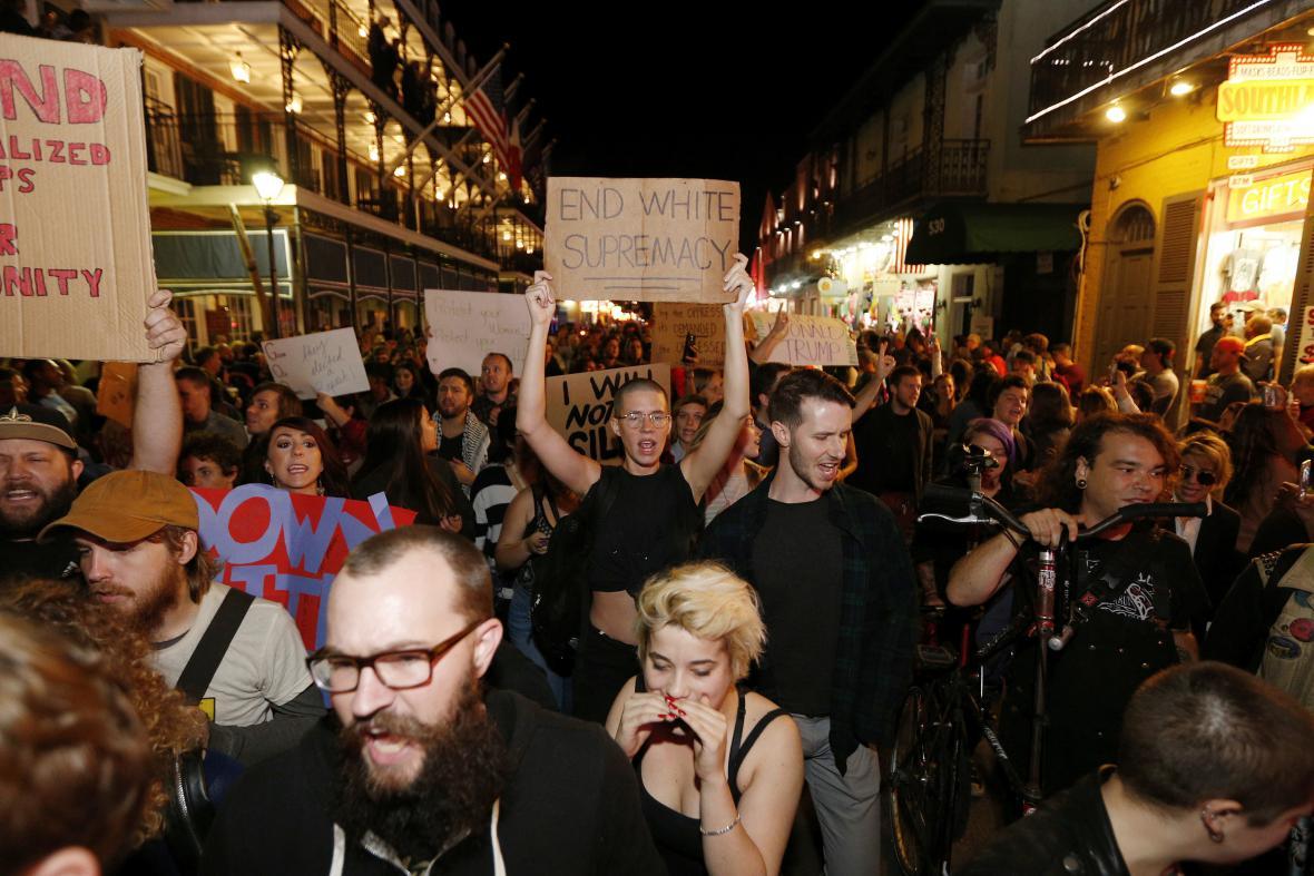 Demonstrace v New Orleans