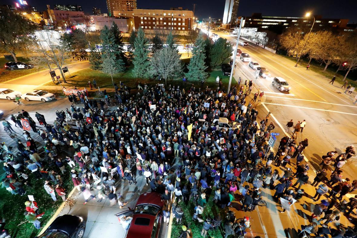 Protest v Minneapolisu