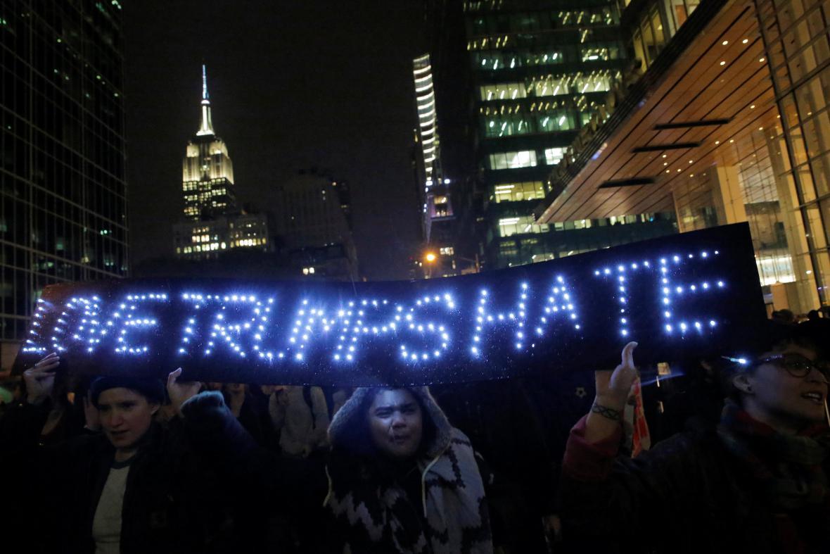Demonstrace na Manhattanu