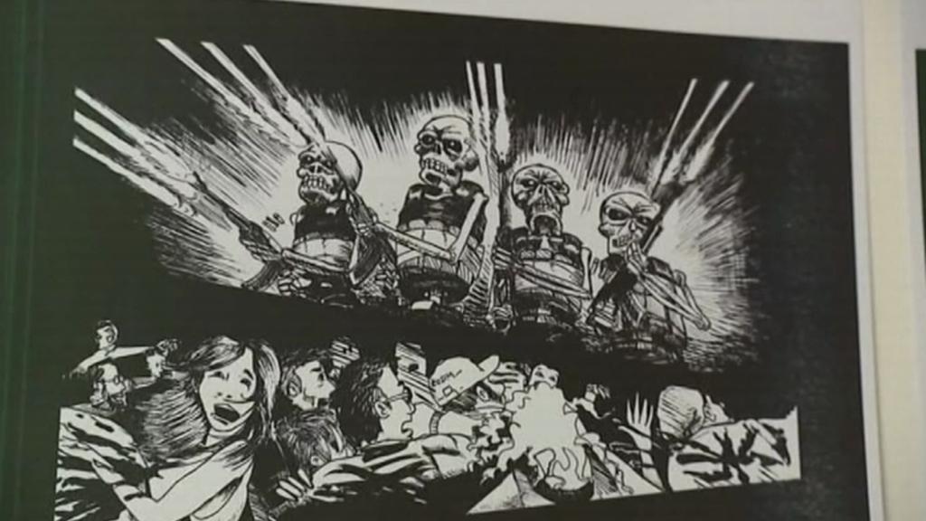 Výjev z komiksu Freda Dewildea