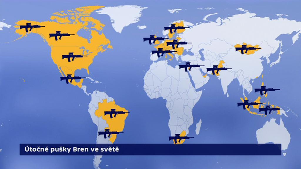 Útočné pušky Bren ve světě