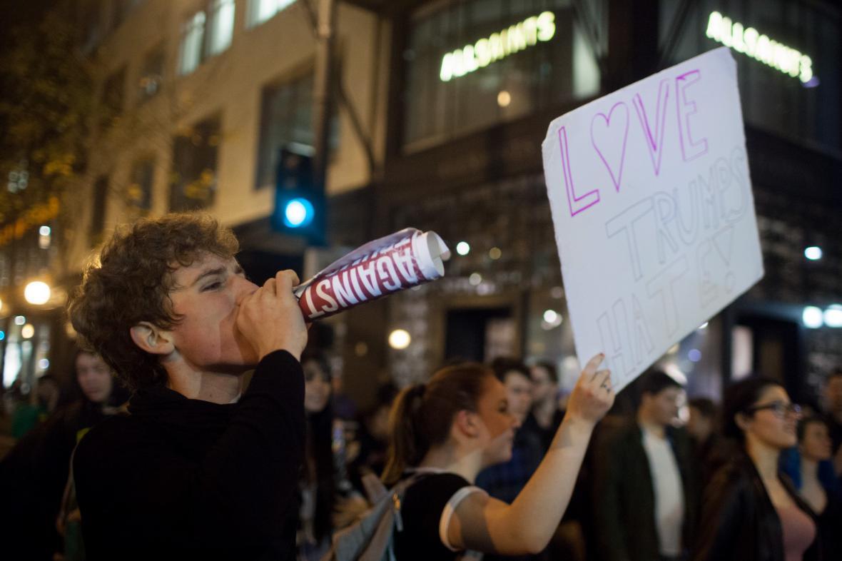 Protesty proti Trumpovi
