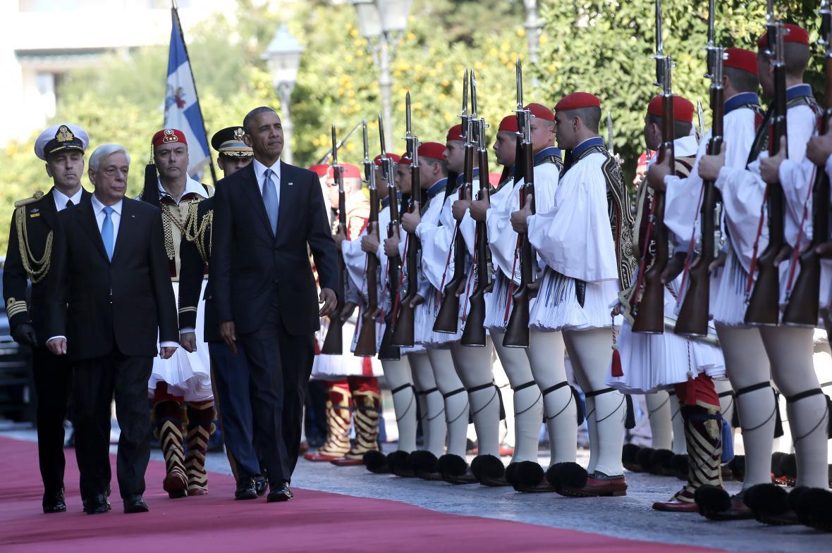 Přivítání od řeckého prezidenta Pavlopoulose
