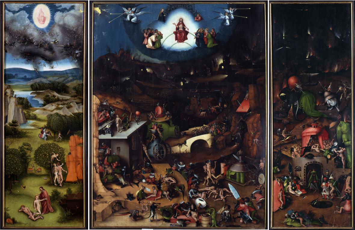 Lucas Cranach / Poslední soud, kopie obrazu Hieronyma Bosche, kolem r. 1524