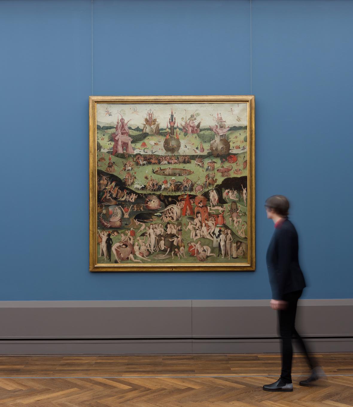 Z výstavy děl Hieronyma Bosche v berlínské Obrazárně