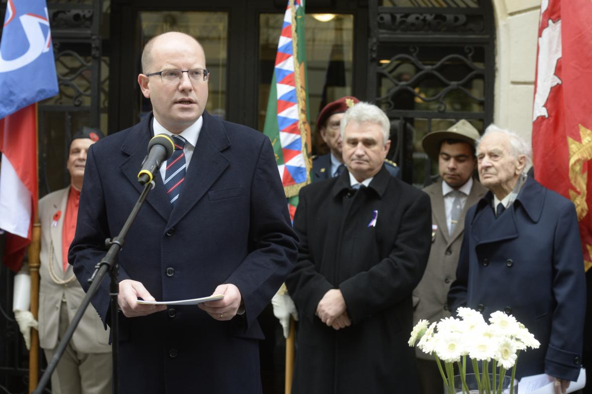 Projev Bohuslava Sobotky u Hlávkovy koleje