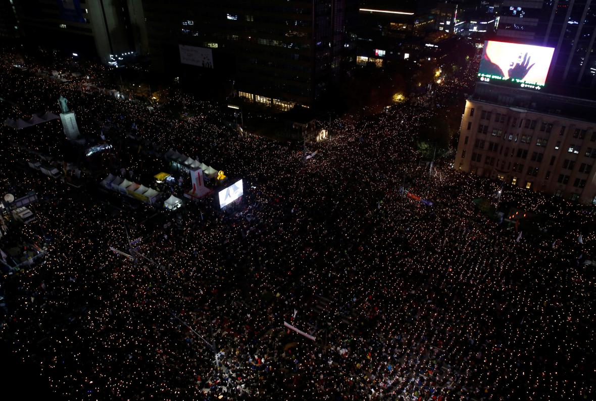 Demonstrace v Soulu