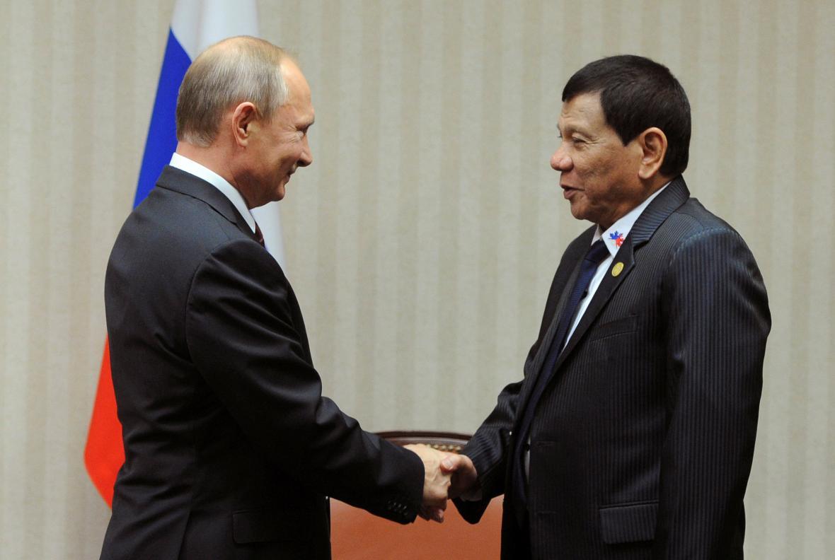 Vladimir Putin a Rodrigo Duterte