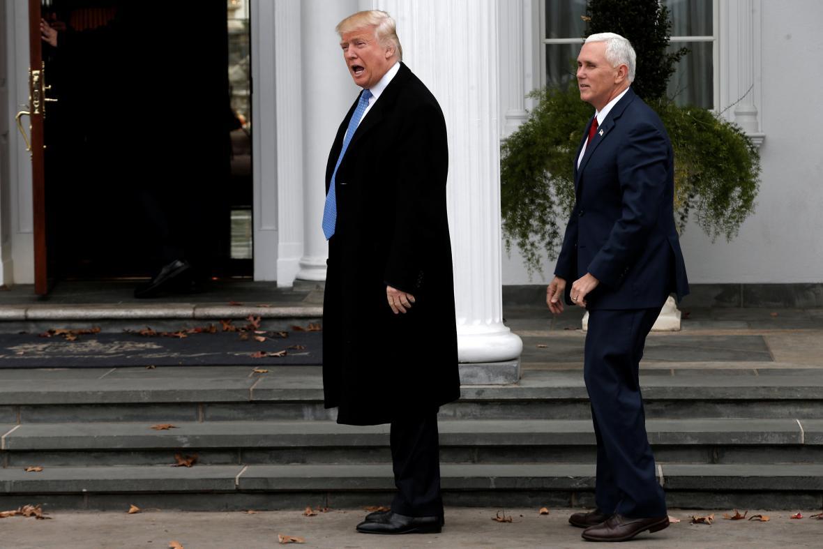 Donald Trump a Mike Pence