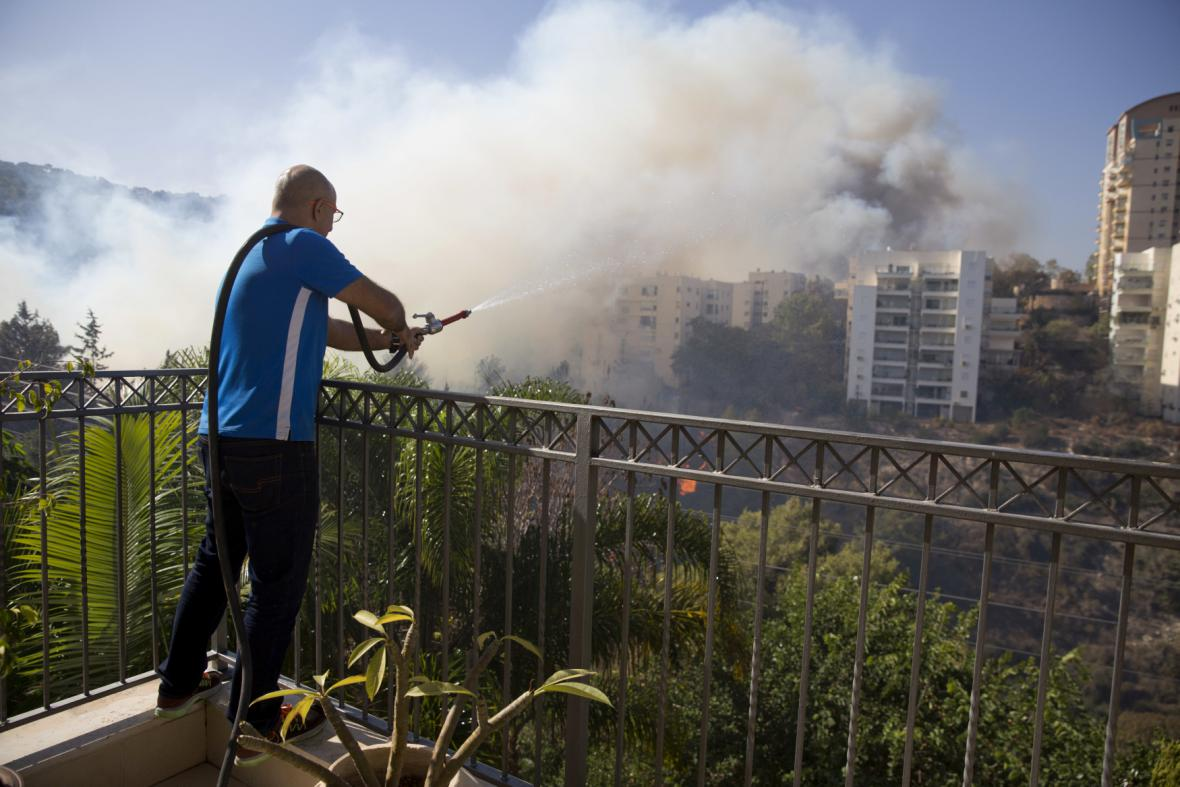 Požár v Haifě