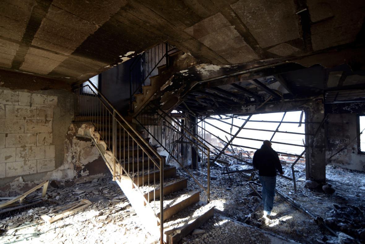 Zničený dům v Izraeli