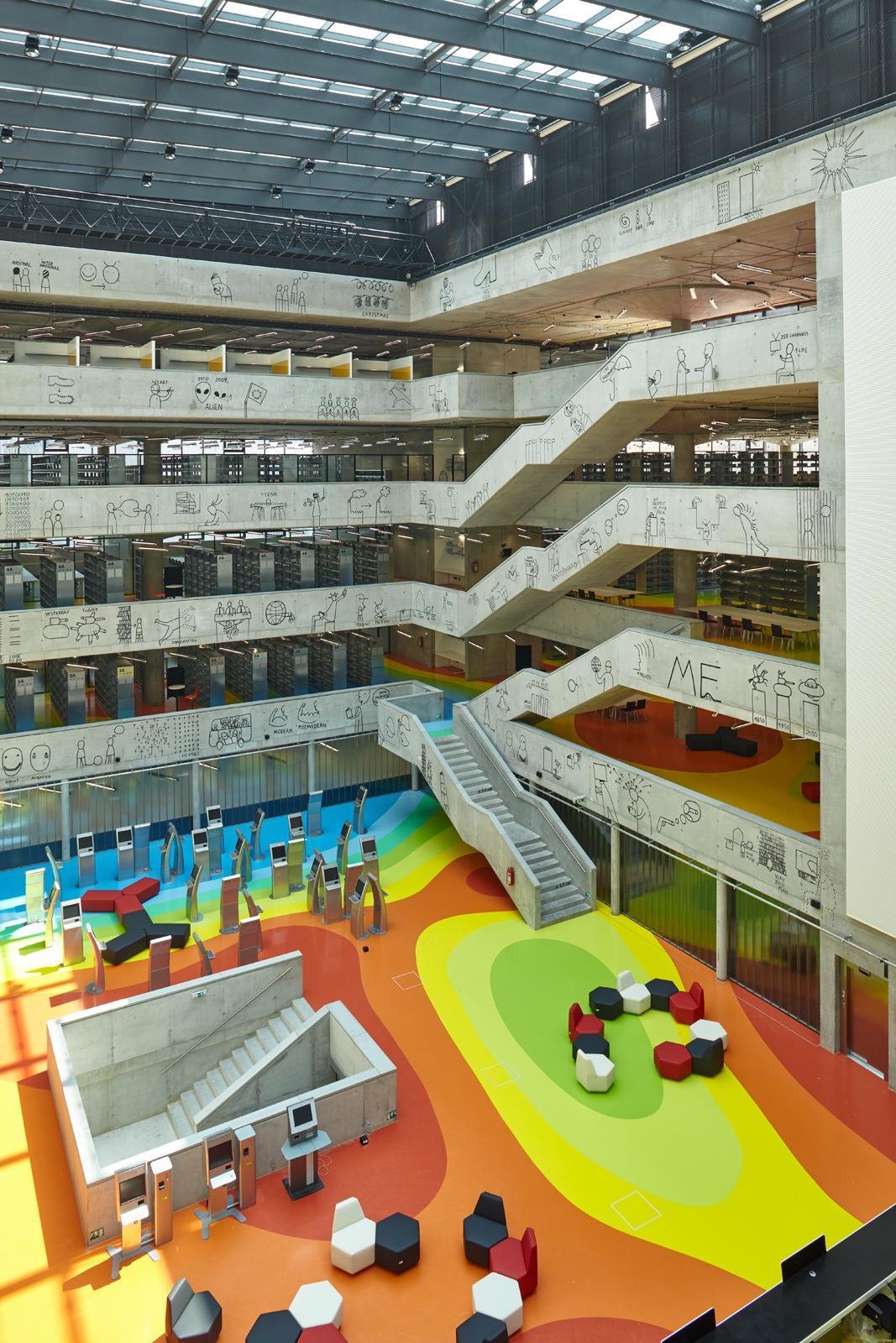Národní technická knihovna, Praha, 2000–2009 (architekti: Roman Brychta, Adam Halíř, Ondřej Hoffmeister, Petr Lešek)