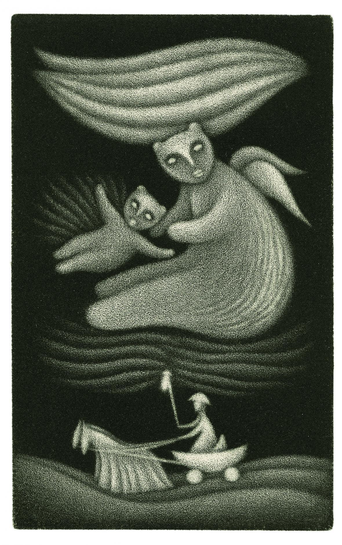 Ilustrace ke knize Vratislava Maňáka O Nebesáři