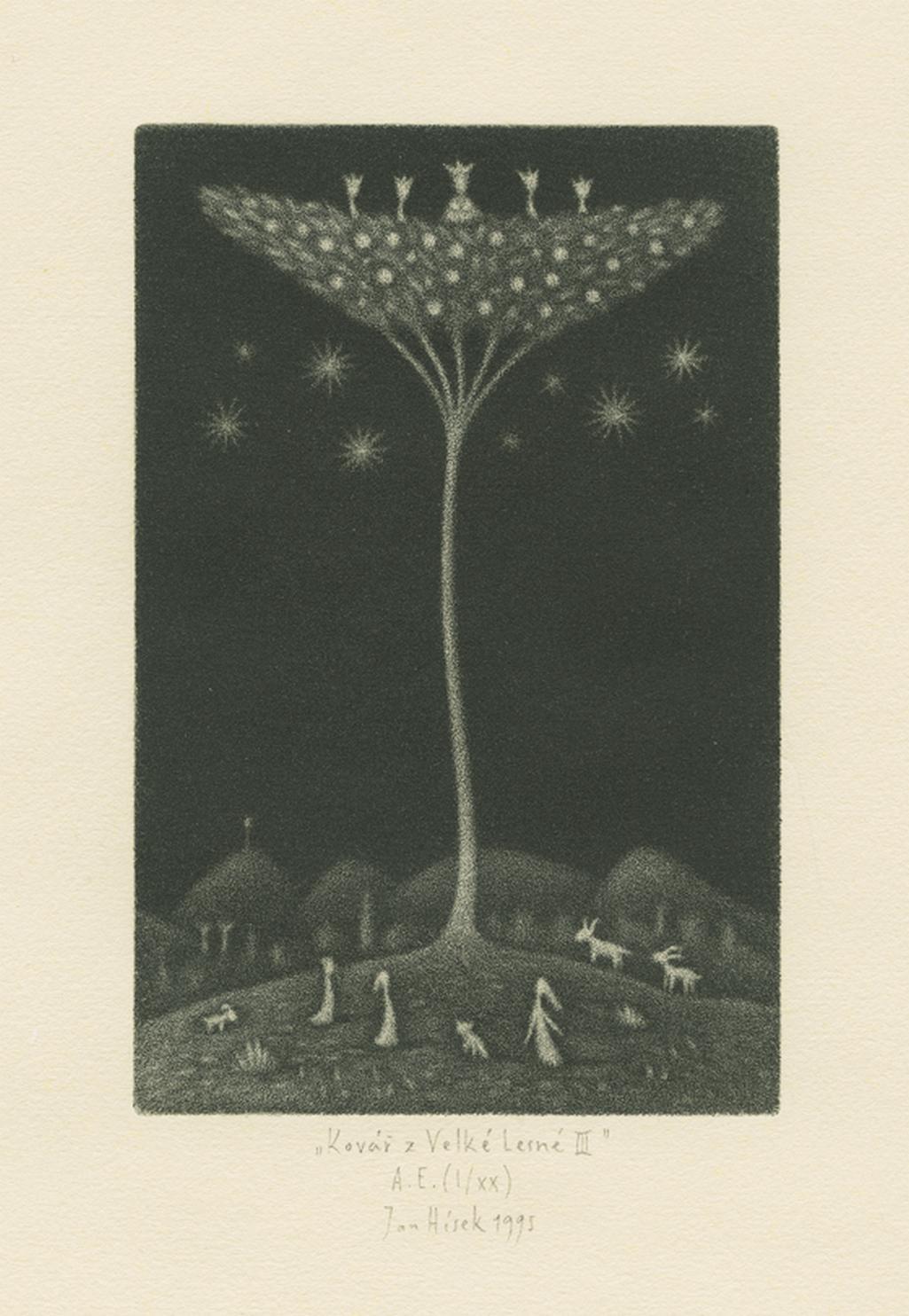Ilustrace k pohádce J. R. R. Tolkiena Kovář z Velké Lesné