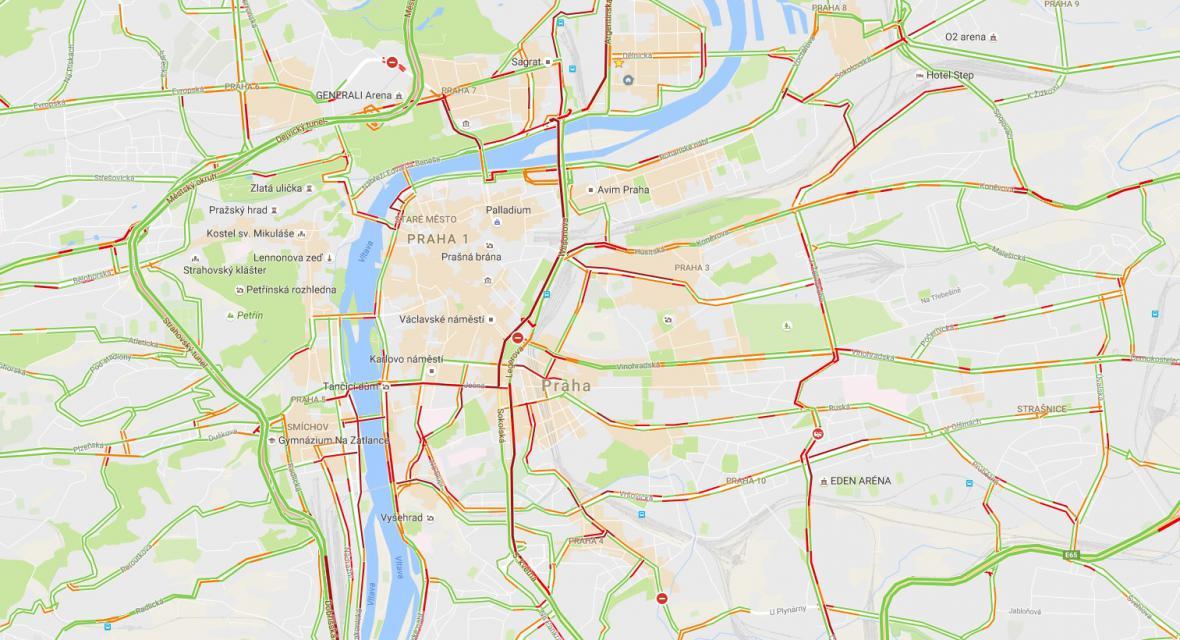Dopravní kolaps v Praze