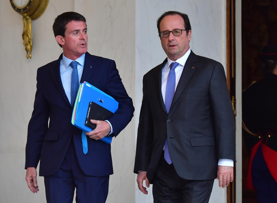 Manuel Valls a François Hollande