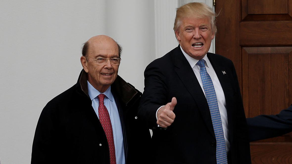 Wilbur Ross s Donaldem Trumpem