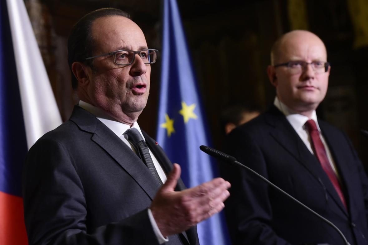 Francois Hollande a Bohuslav Sobotka