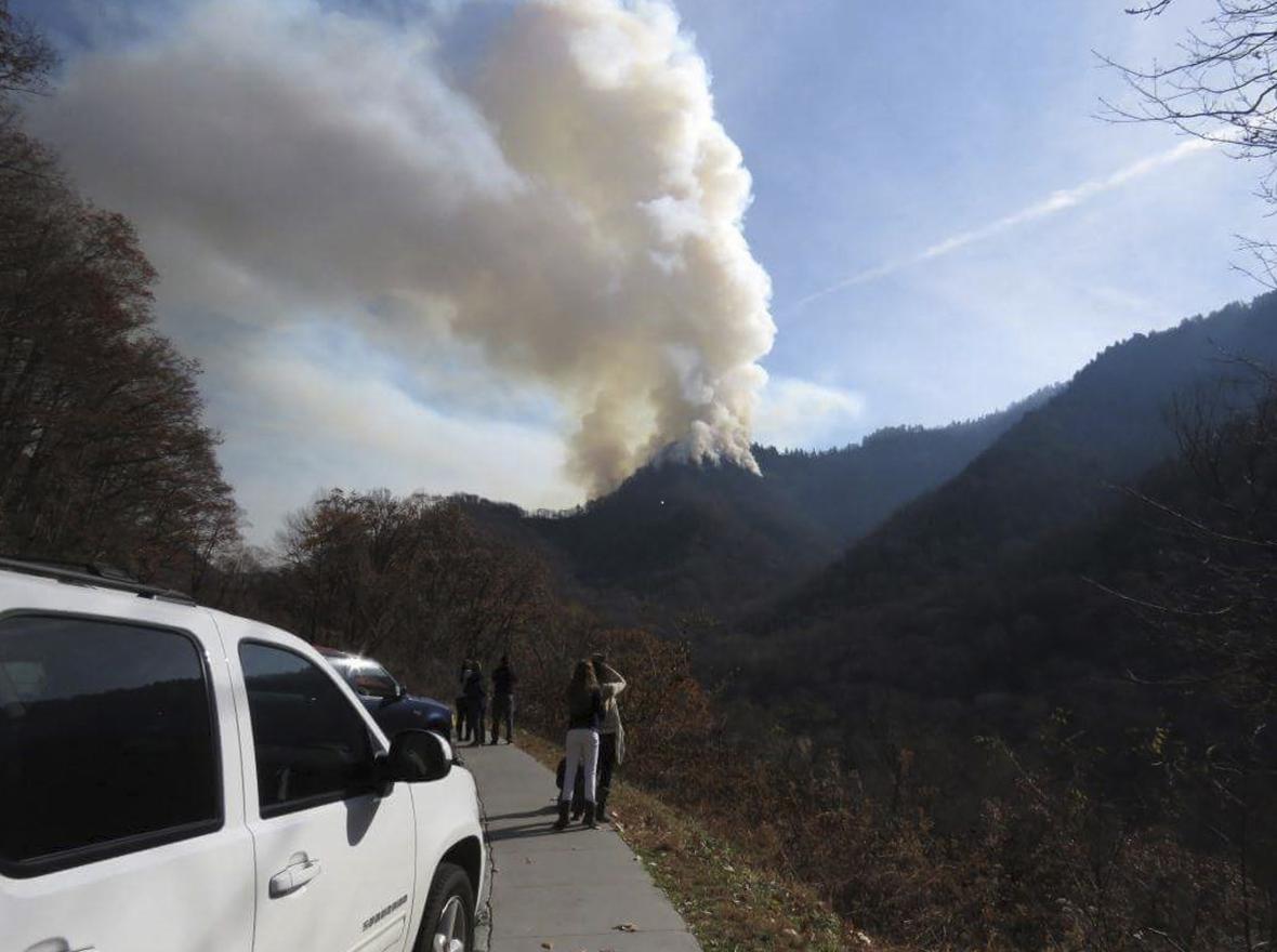 Požáry v Tennessee