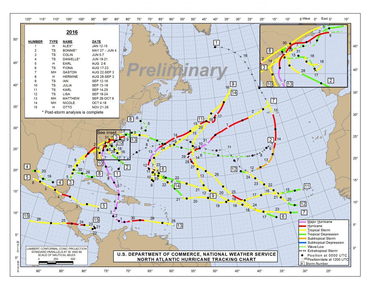 Sezóna hurikánů 2016