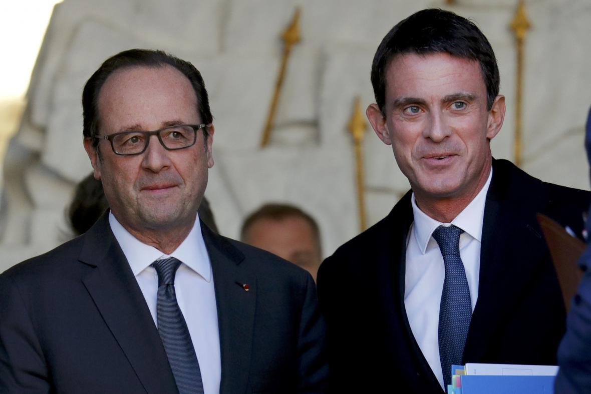 Francois Hollande a Manuel Valls