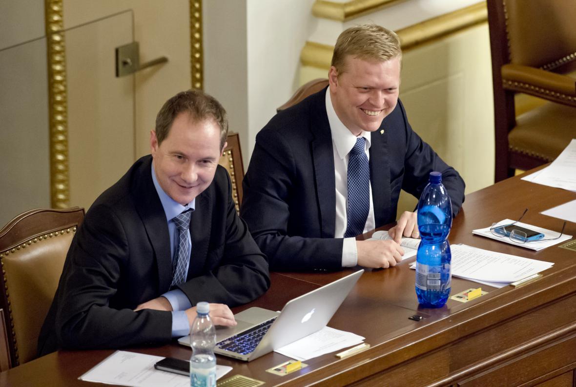 Petr Gazdík a Pavel Bělobrádek