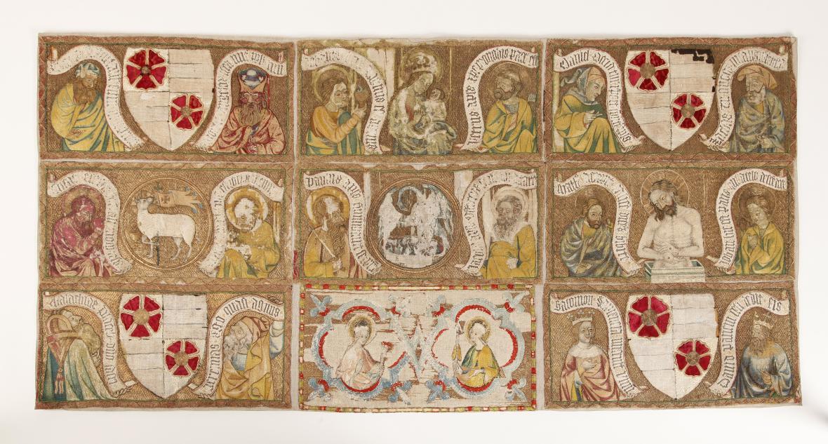 Tzv. Třeboňské antependium (Čechy, 1380–1390)