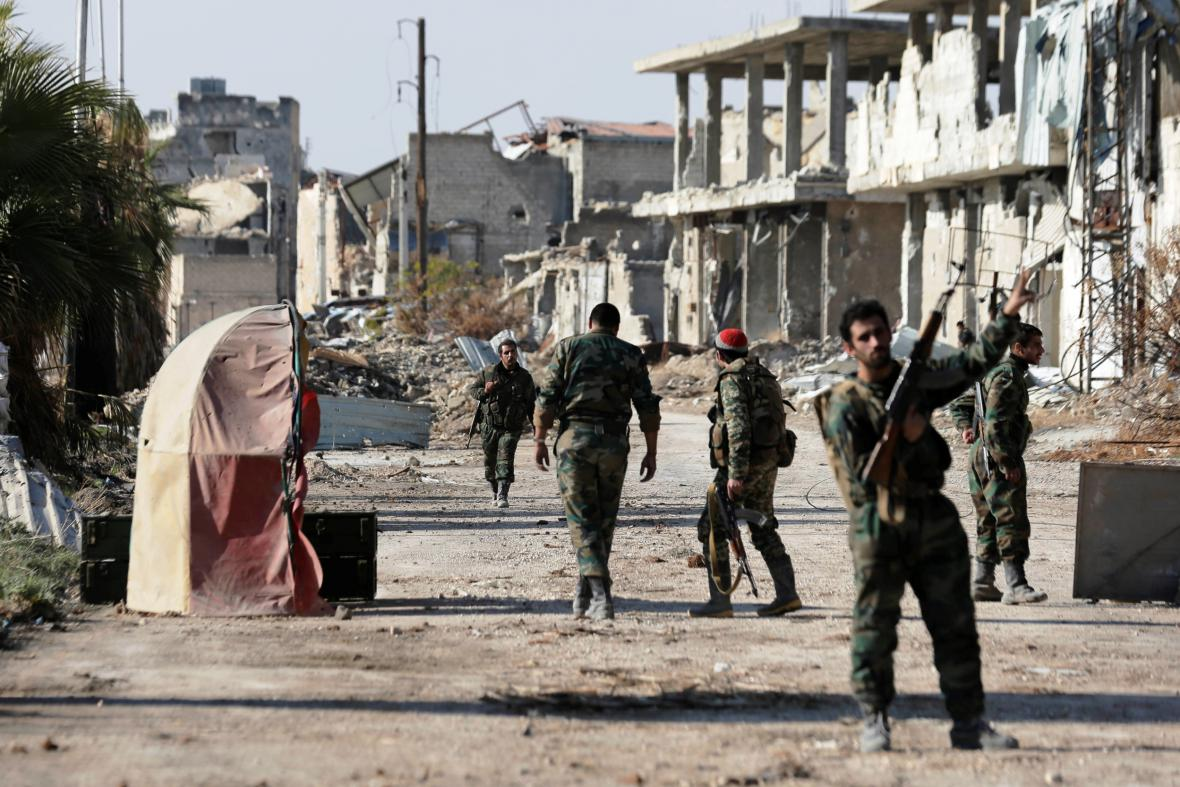 Postup syrské armády ve východním Aleppu