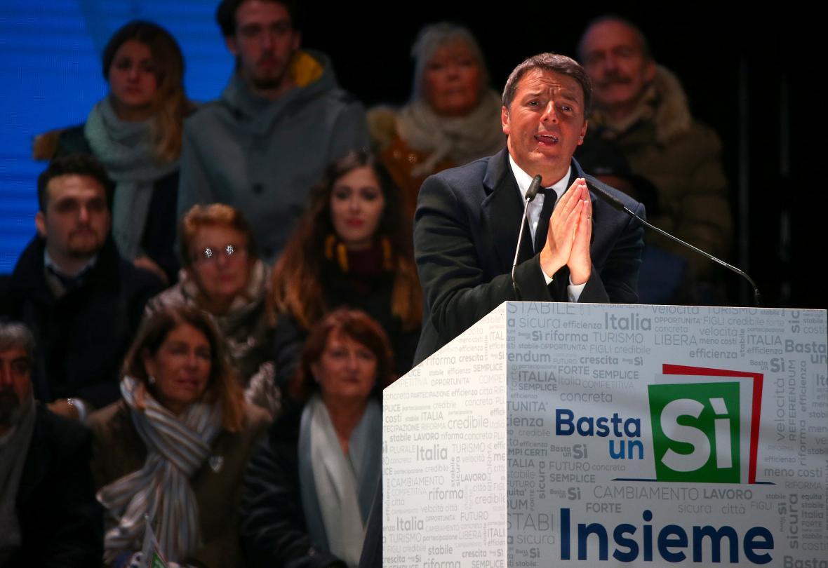 Končící italský premiér Matteo Renzi