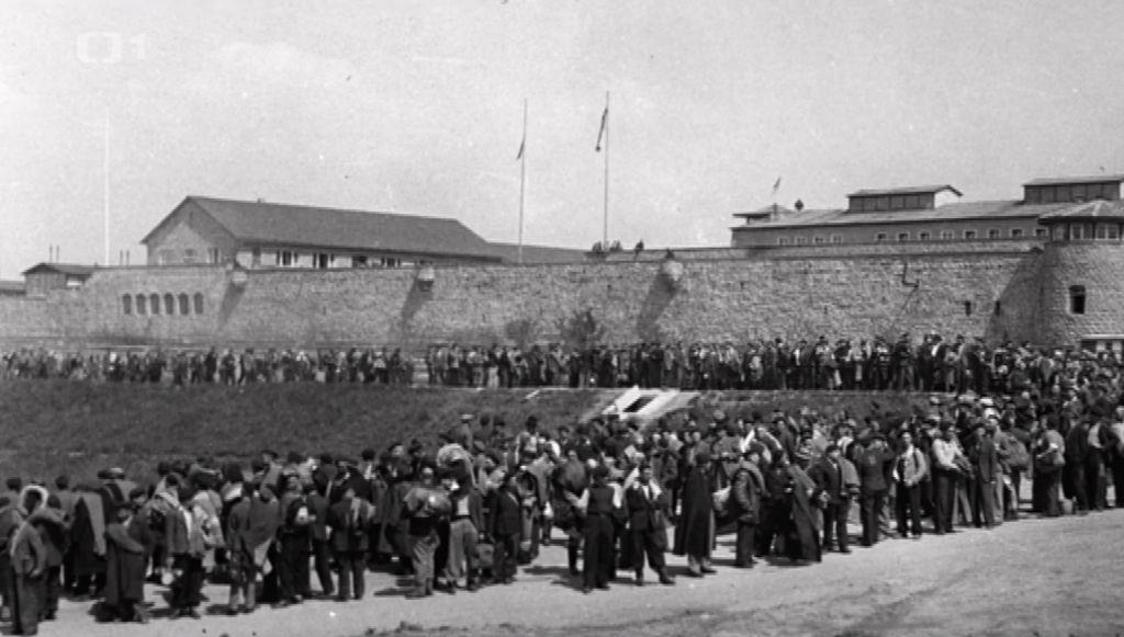 Osvobození koncentračního tábora Mauthausen v květnu 1945