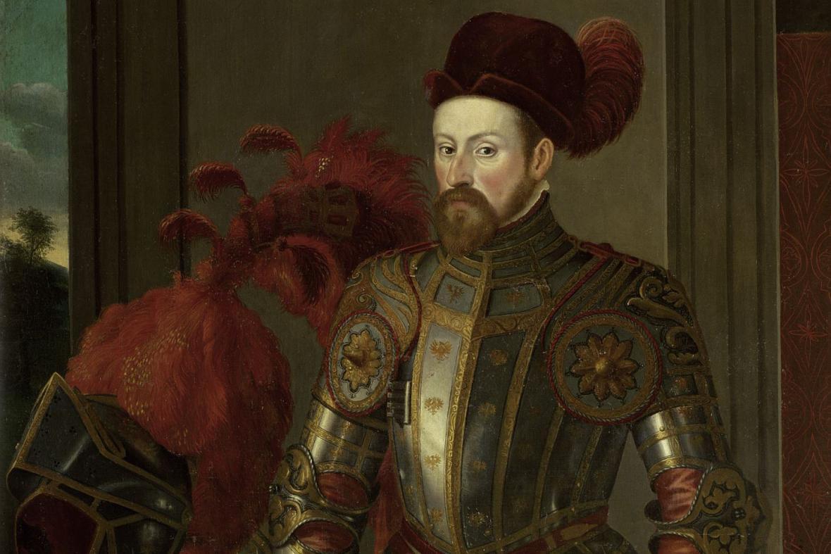 Francesco Terzio / Portrét arcivévody Ferdinanda II. - výřez (1556-57)