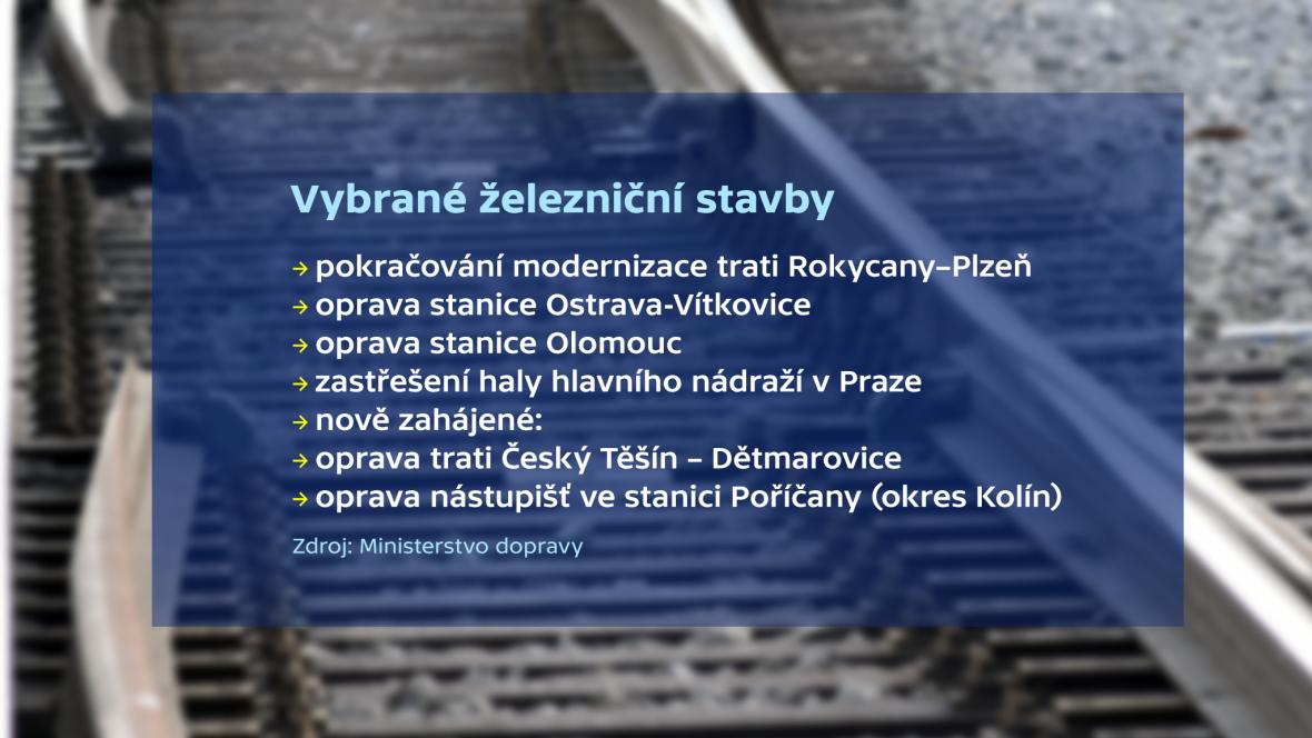 Vybrané železniční stavby