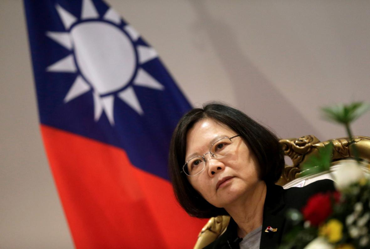 Tchajwanská prezidentka Cchaj Jing-wen