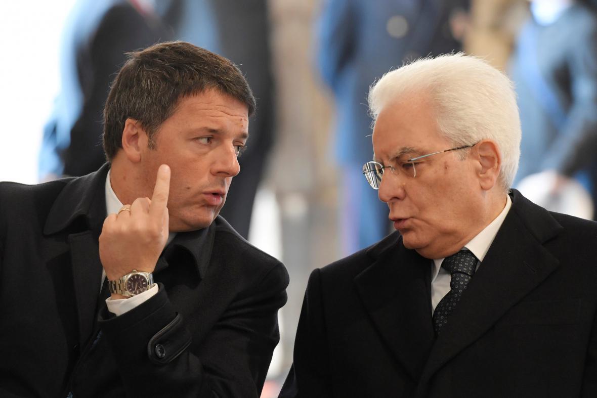 Matteo Renzi a Sergio Mattarella