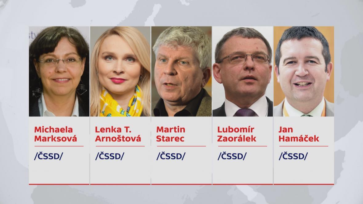Nominace na místopředsednická křesla v ČSSD