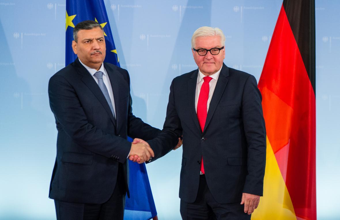 Rijád Hidžáb a Frank-Walter Steinmeier