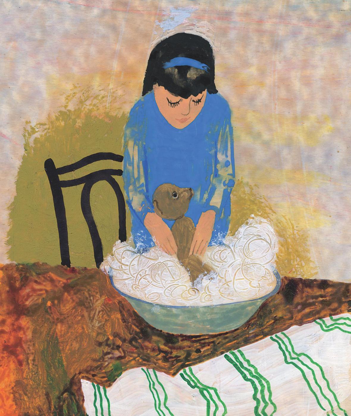 Ilustrace ke knize Můj medvěd Flóra