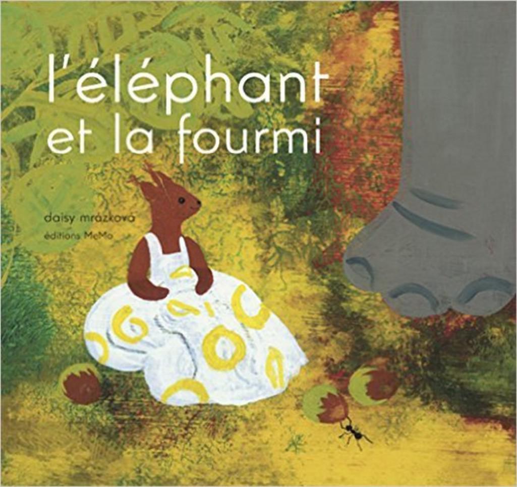 Francouzské vydání knihy Slon a mravenec