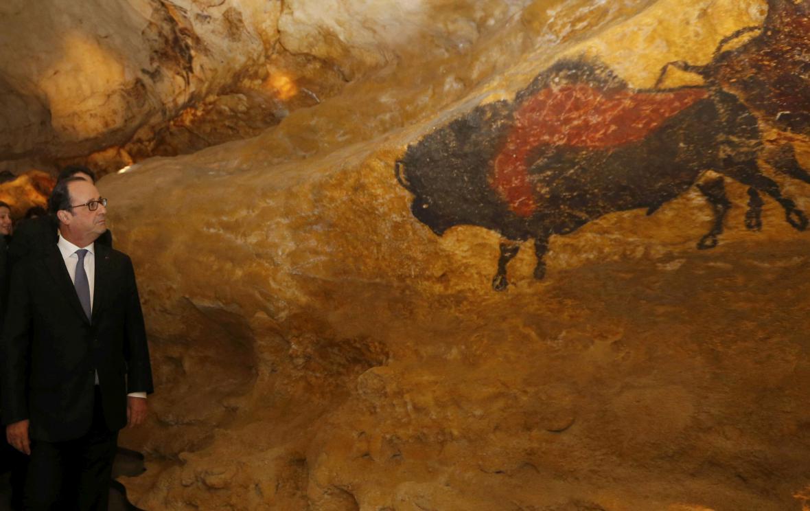 Replika jeskyně Lascaux