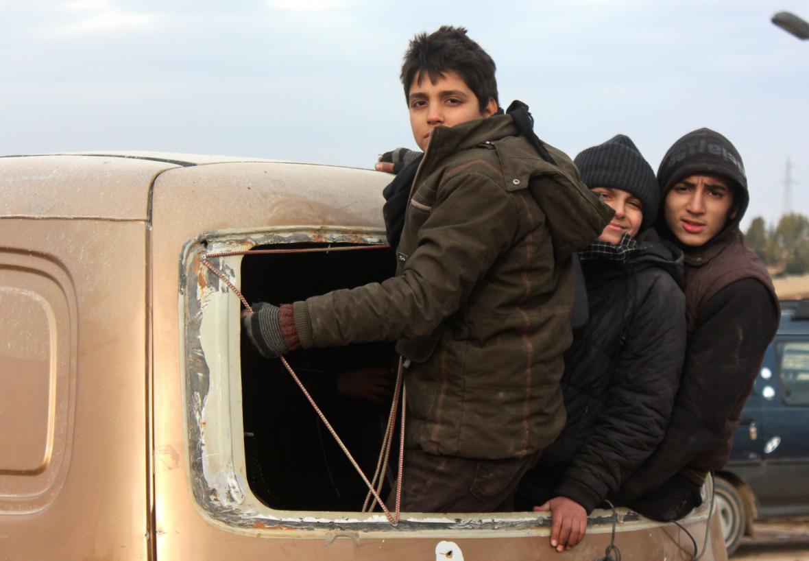Evakuace východního Aleppa