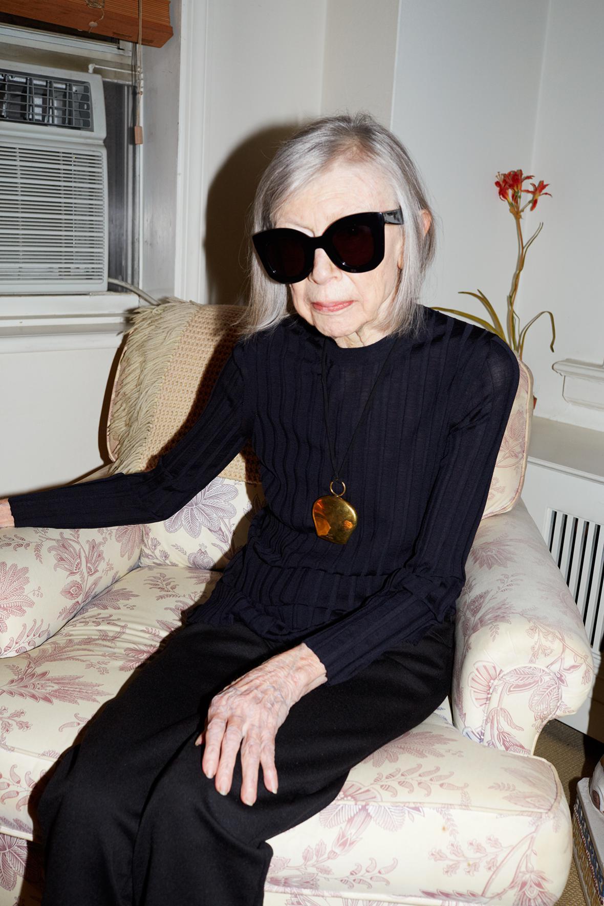 Spisovatelka Joan Didion na fotografii Juergena Tellera