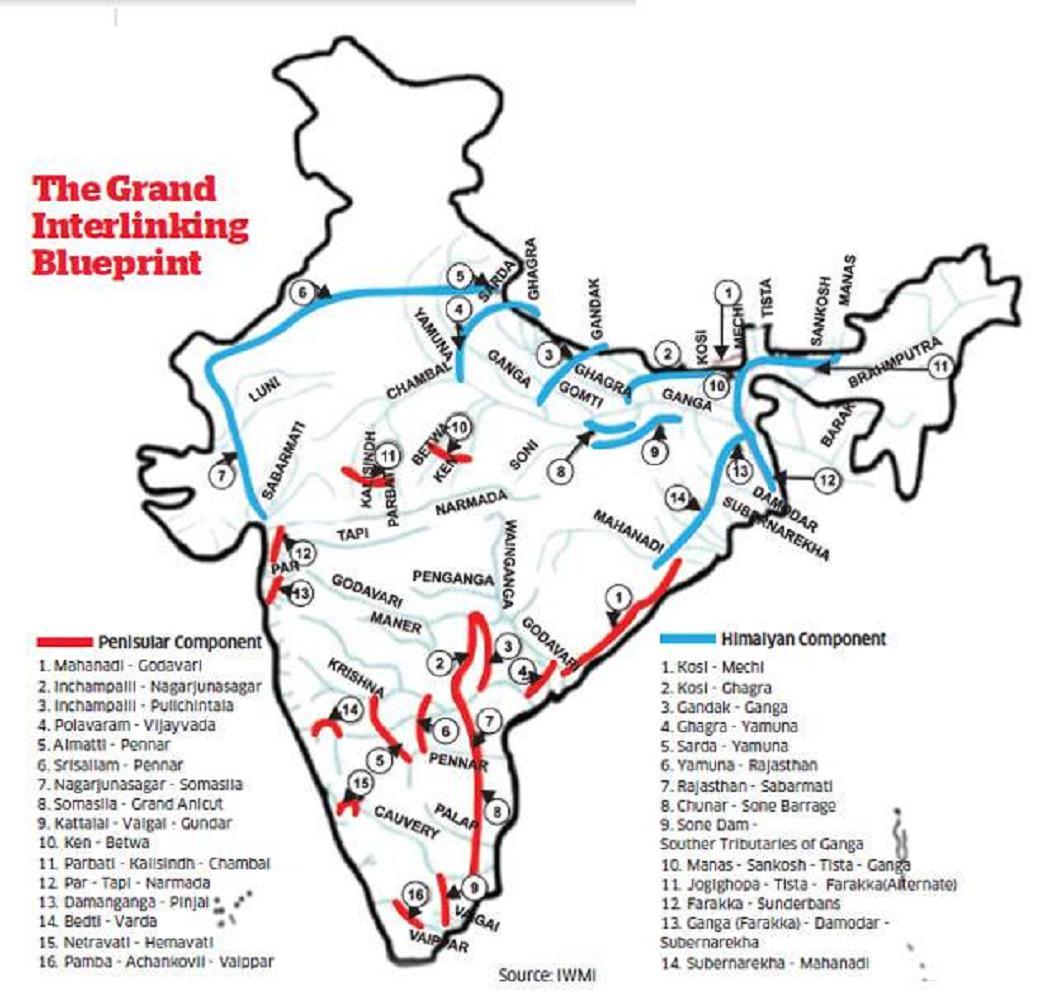 Plán na propojení řek v Indii