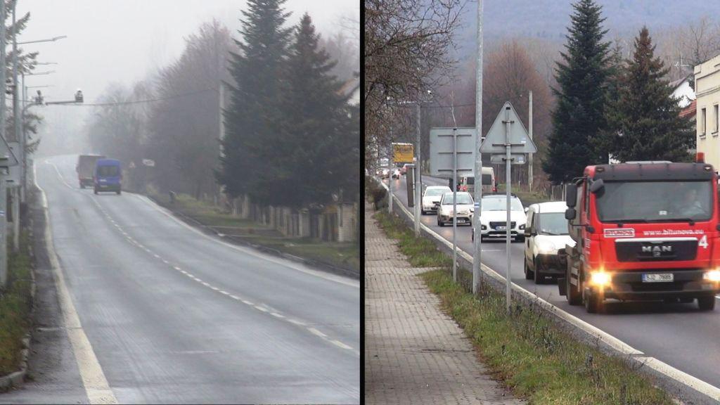 Provoz přes obce se oproti pátku výrazně zklidnil