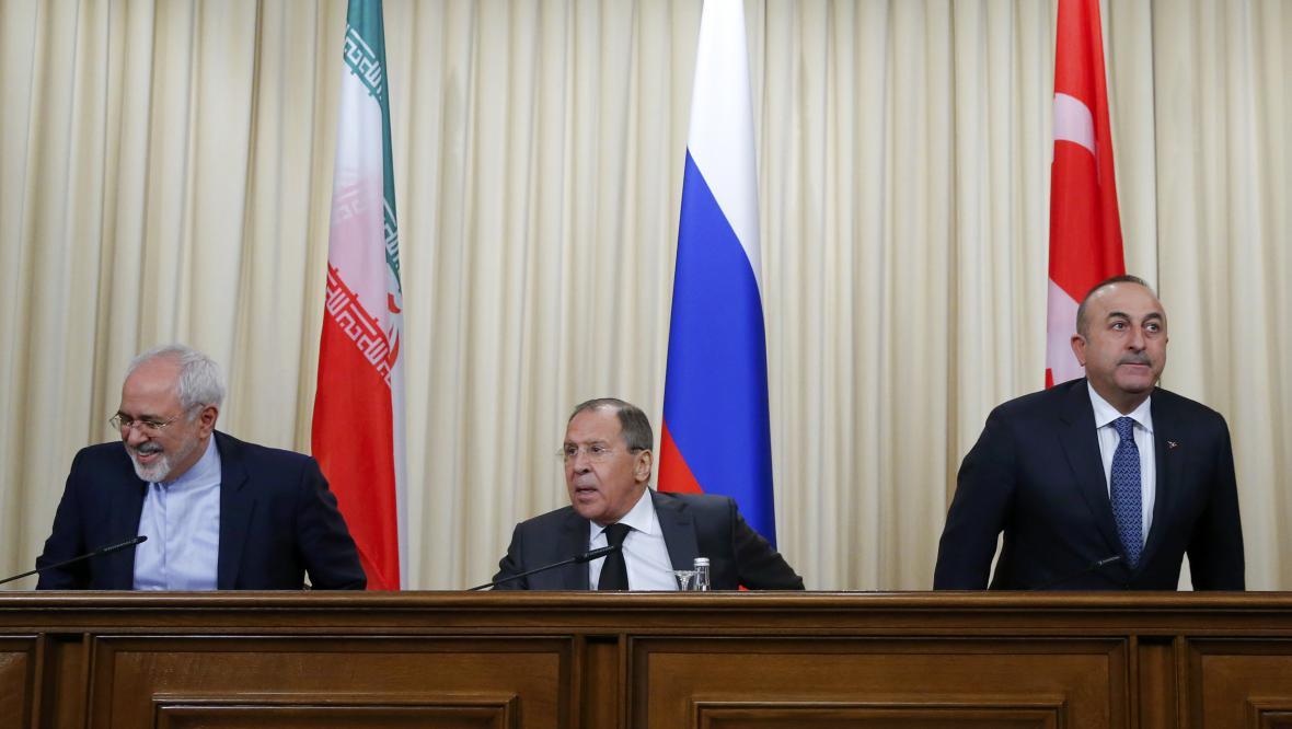 Íránsko-rusko-turecká schůzka v Moskvě