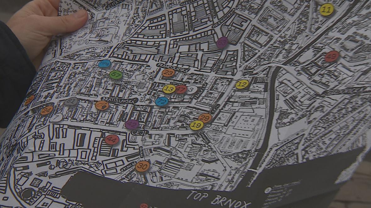 Mapa provede zájemce po všech důležitých bodech
