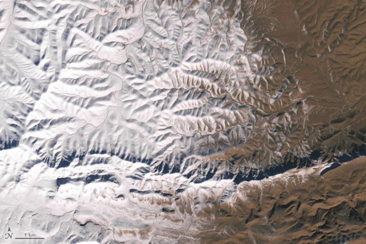 Sníh na Sahaře zaznamenala i NASA