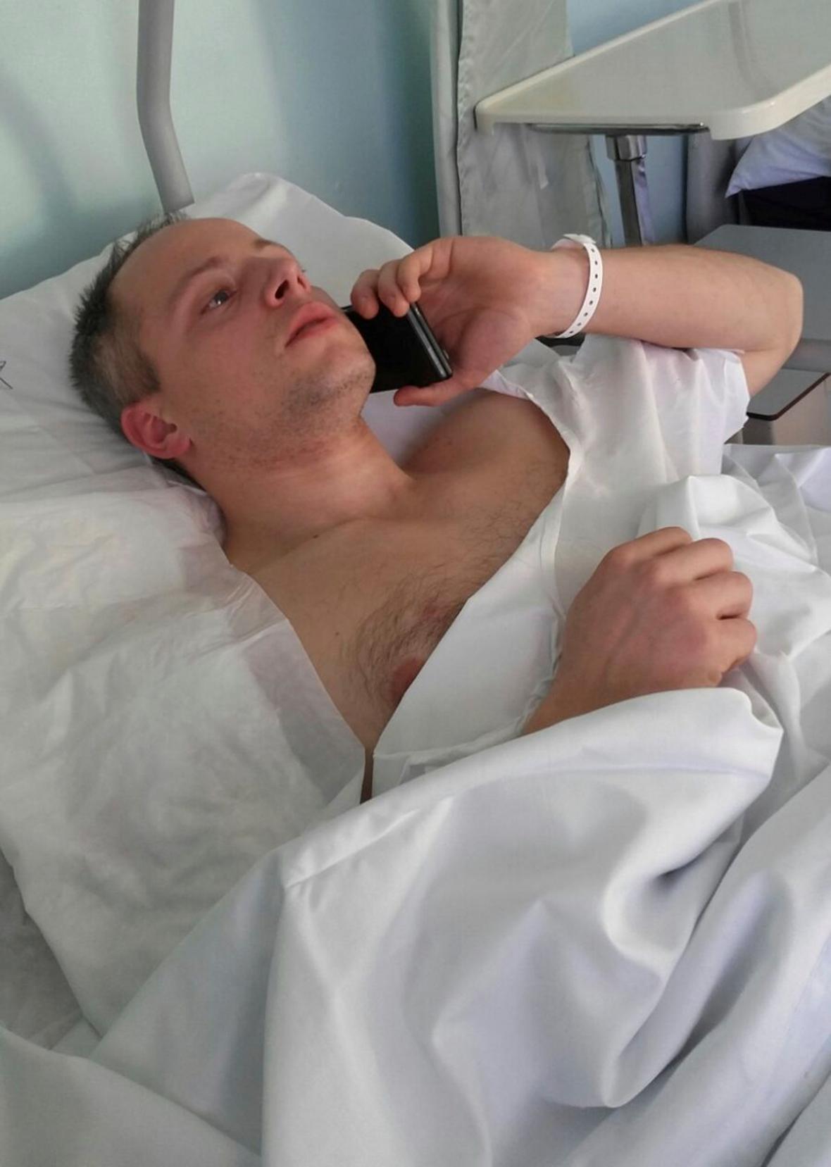 Zraněný policista Cristian Movio