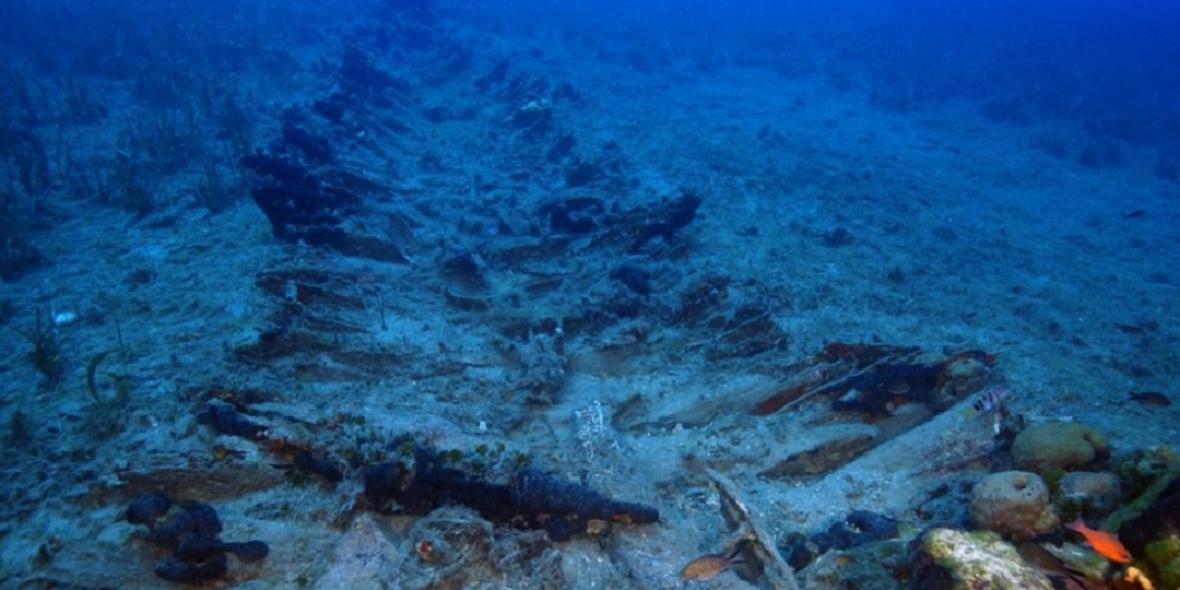 Nález hřbitova lodí v Řecku